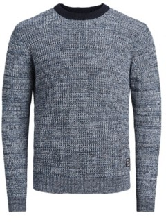 Jack and Jones Men's Long Sleeve Organic Knit Sweater