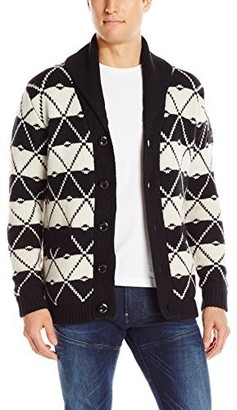 G Star Men's Core Jacquard Shawl Cardigan Sweater