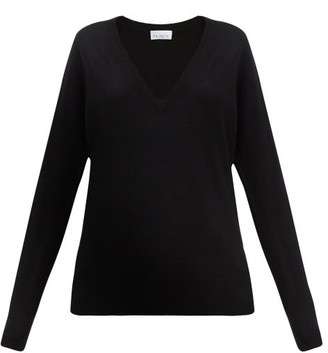 Raey V-neck Fine-knit Cashmere Sweater - Black