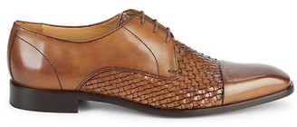 Saks Fifth Avenue Made In Italy Woven Cap Toe Leather Oxfords