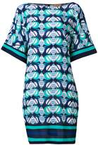 Fay geometric print kaftan dress