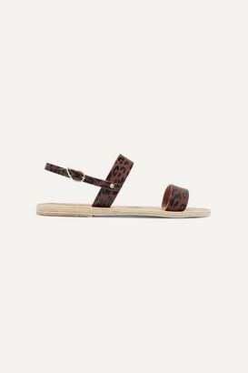 Ancient Greek Sandals Clio Leopard-print Leather Slingback Sandals - Leopard print