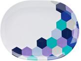David Jones Honeycomb Oval Dinner Plate