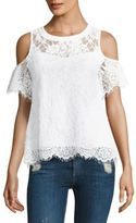 Generation Love Libby Lace Cold-Shoulder Top