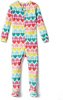 Gap Rainbow hearts footed sleep one-piece