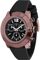Glam Rock GR32146A Watch 22mm Black silicone ion plated stainless steel case with black dial Swiss Quartz