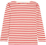 Saint Laurent Striped Cotton-jersey Top - Red