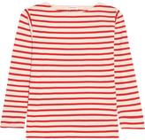 Saint Laurent Striped Cotton-jersey Top - Red