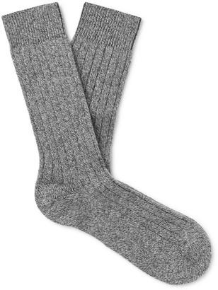 Pantherella Waddington Melange Cashmere-Blend Socks