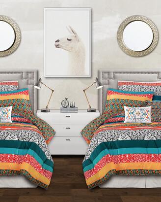 Triangle Home Fashion Fashions 5Pc Boho Twin Xl Comforter Set