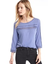 Gap Luxe crochet-trim top
