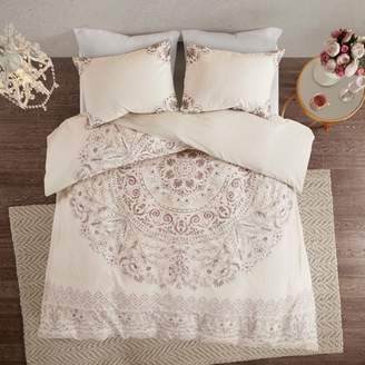 Nobrand No Brand 3pc Kaia Cotton Printed Reversible Duvet Cover Set