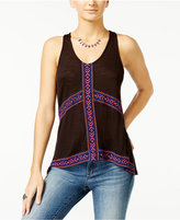 American Rag Embroidered High-Low Tank Top, Only at Macy's