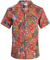 Etro Tropical-print short-sleeved linen shirt