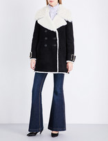 Burberry Norhurst suede and shearling coat