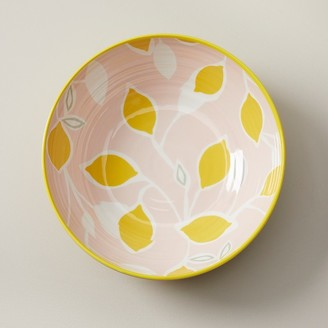 Indigo Lemons Melamine Serving Bowl
