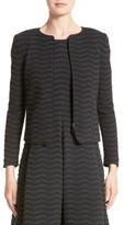 Armani Collezioni Women's Embossed Jacquard Jersey Jacket
