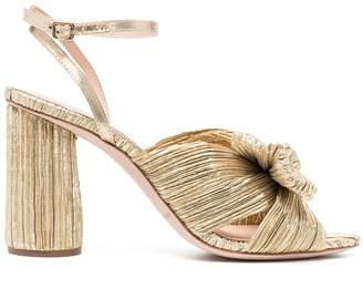 Loeffler Randall Camellia pleated leather sandals