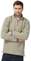 Mantaray Big And Tall Natural Pique Zip Neck Sweater