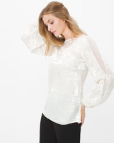 White House Black Market Burnout Blouse