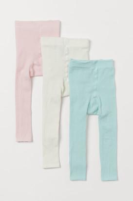 H&M 3-pack Fine-knit Leggings