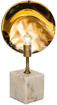 Noir Reflect Marble Table Lamp - Metallic Brass/White