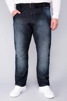 Yours Clothing HAMNETT GOLD Stonewash Denim Jeans