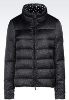 Armani Jeans Down Jacket In Printed Nylon