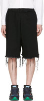 Marques Almeida Black Denim Track Shorts
