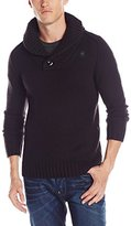 G Star Men's Bick Knit Heavy Wool Shawl Sweater