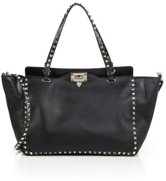 Valentino Rockstud Medium Leather Tote