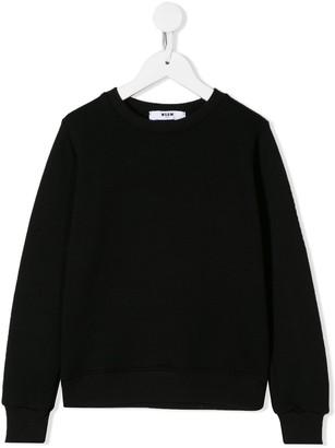 Msgm Kids Fringed Back Sweatshirt