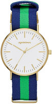 Arizona Mens Gold Tone Strap Watch-Fmdarz536
