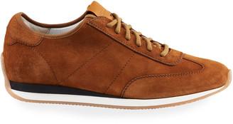 Santoni Men's Pause Soft Suede Low-Top Sneakers