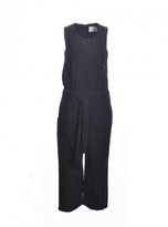 Folk Sleeveless JUMPSUIT in Black Cotton
