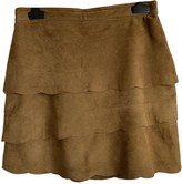 Maje Khaki Suede Skirts