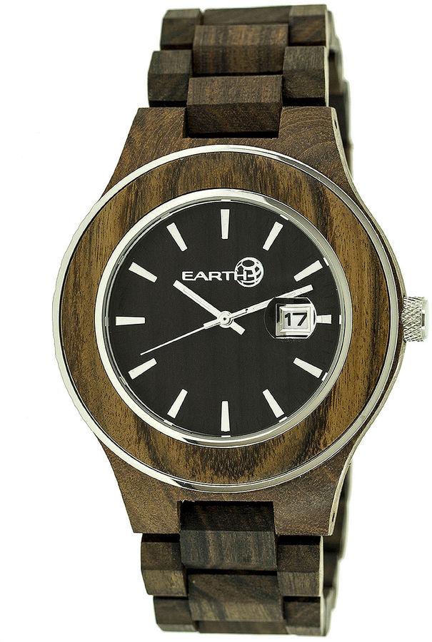 Earth Wood Cherokee Dark Brown Bracelet Watch with Date ETHEW3402