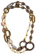 Stephen Dweck Smoky Quartz, Citrine & Mother of Pearl Bead Necklace