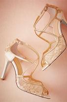 BHLDN Gilt Lace Heels
