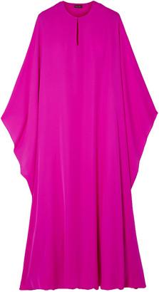 Reem Acra Oversized Draped Silk-georgette Midi Dress