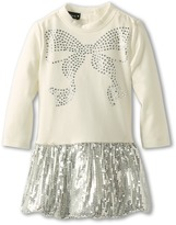 Kate Mack Bow Bling Baby Dress (Infant) (Ivory) - Apparel