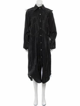 Nina Ricci Parachute Midi Dress Black
