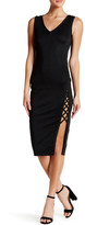 Wow Couture Asymmetric Lace-Up Bodycon Dress