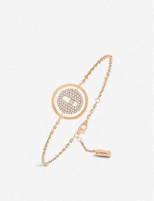 Messika Lucky Move 18ct rose-gold and pave diamond bracelet