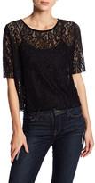 C&C California Binx Lace Short Sleeve Shirt