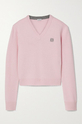 Loewe Embroidered Wool Sweater - Pink