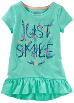 Osh Kosh Oshkosh Bgosh Toddler Girl Ruffled Tunic Top