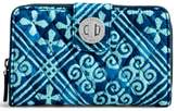 Vera Bradley Cuban Tiles Turnlock Clutch