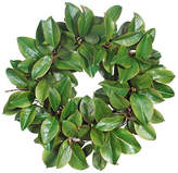 "Winward Silks 22"" Magnolia Leaf Faux Wreath - Green"