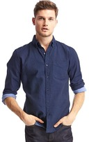 Gap Doubleweave indigo slim fit shirt